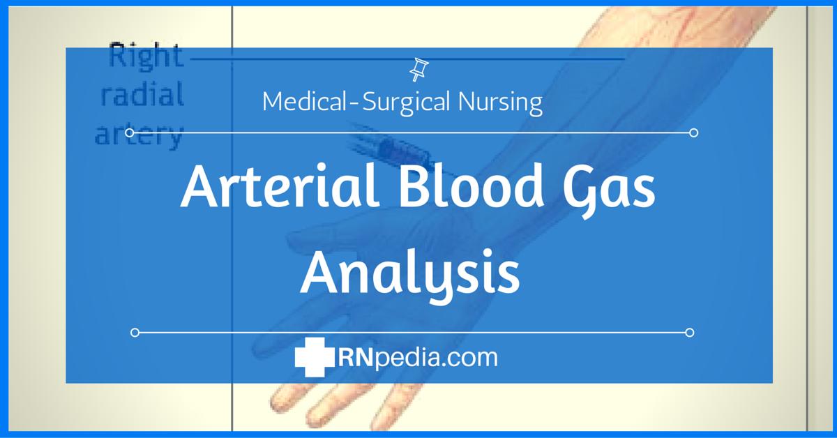 Arterial Blood Gas Analysis - RNpedia