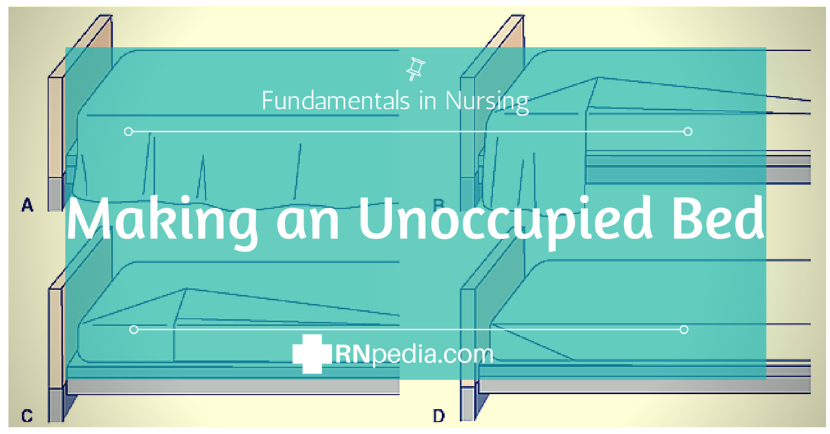 making an occupied unoccupied bed Procedure in making an occupied bed by crrfrnc in types  instruction manuals   place clean mattress pad on bed by bed making folding it lengthwise with  center crease in middle of bed  ncm checklist - occupied and unoccupied  bed.