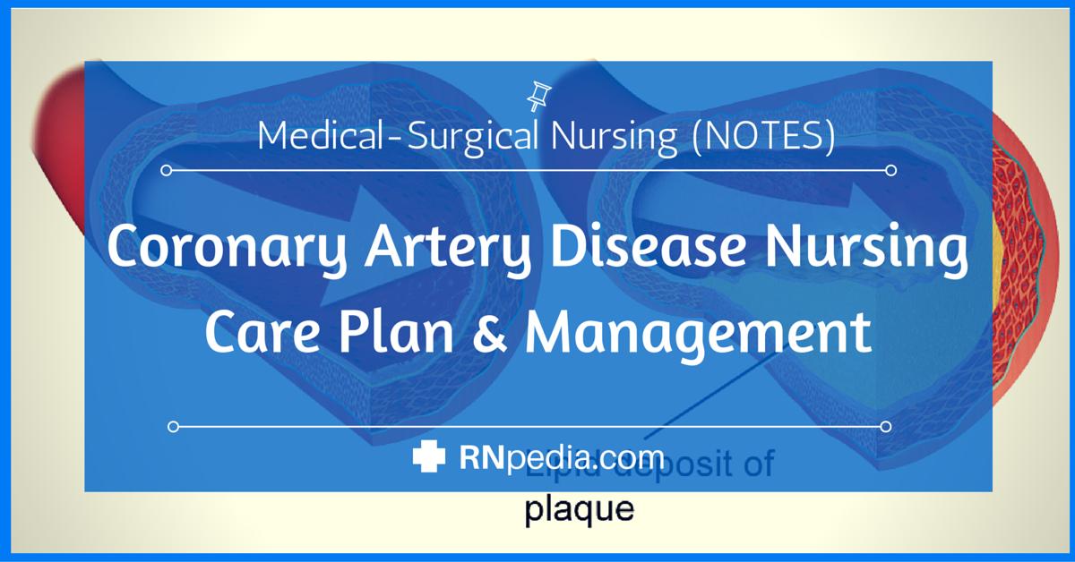 Coronary Artery Disease Nursing Care Plan Management