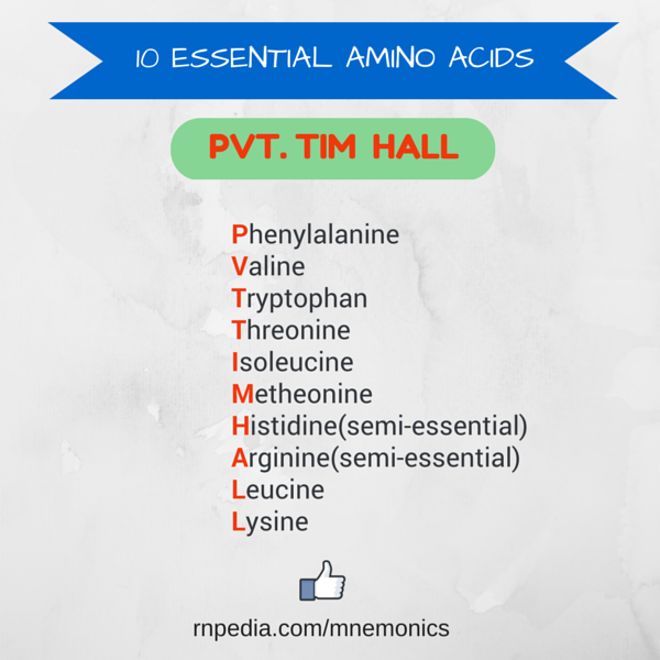 10 essential amino acids
