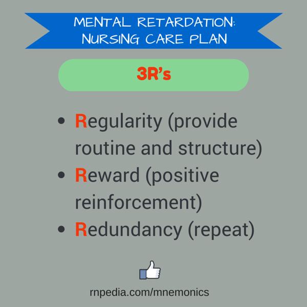 Mental retardation: nursing care plan