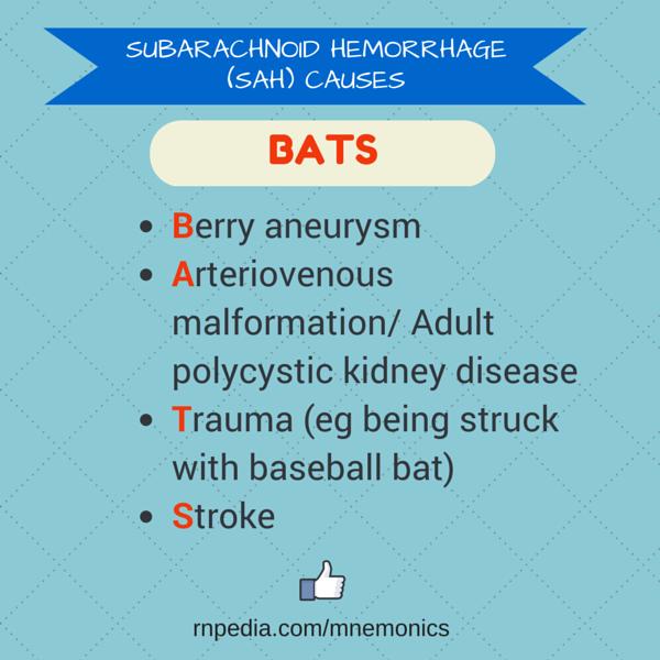SUBARACHNOID HEMORRHAGE (SAH) CAUSES